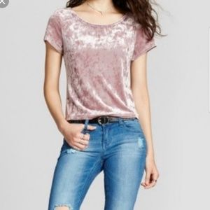Mossimo purple crushed velvet top